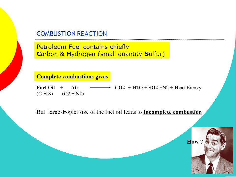 COMBUSTION REACTION Petroleum Fuel contains chiefly