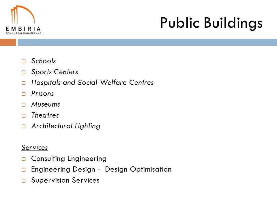 Public Buildings Schools Sports Centers