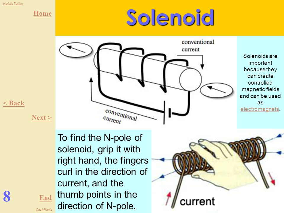 Solenoid Solenoids are important because they can create controlled magnetic fields and can be used as electromagnets.