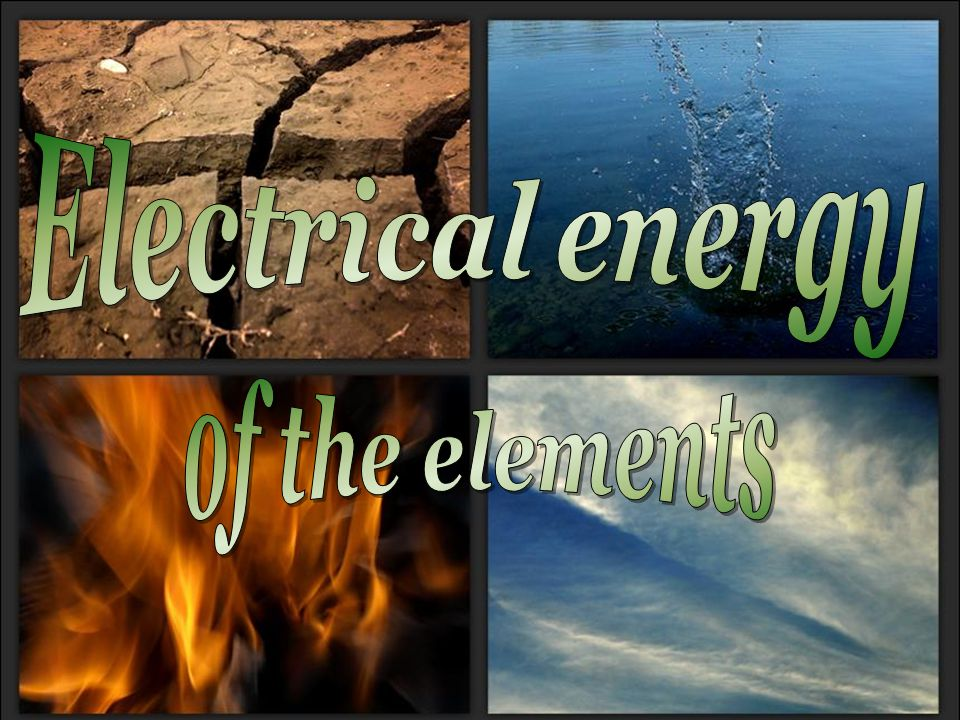 Electrical energy of the elements