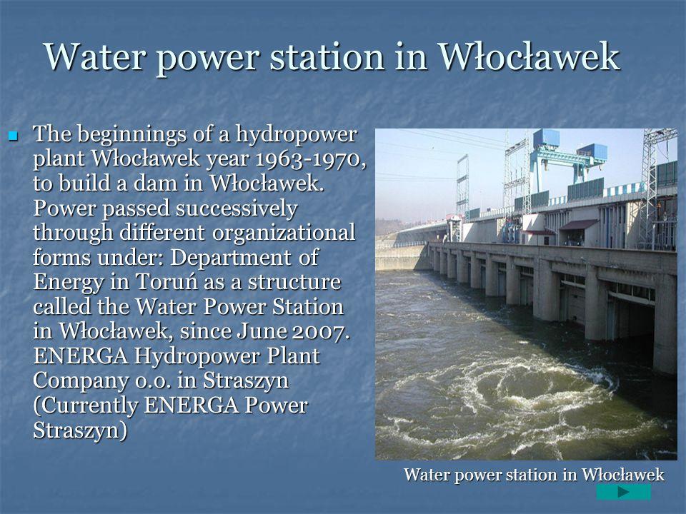Water power station in Włocławek