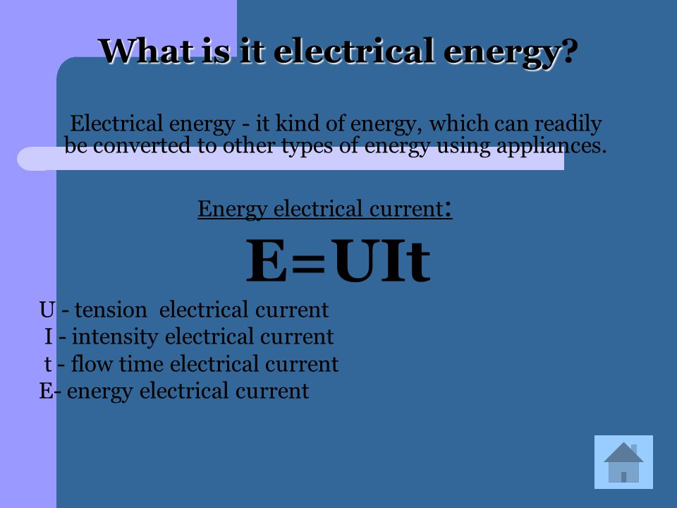 What is it electrical energy