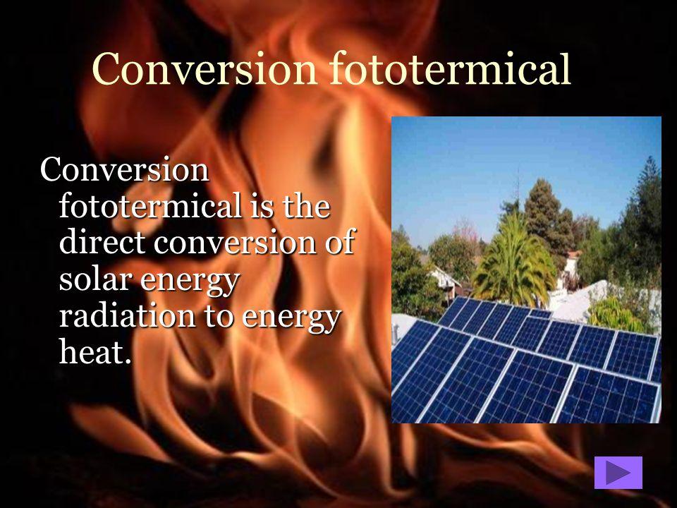 Conversion fototermical
