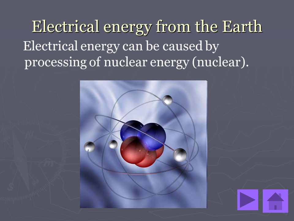 Electrical energy from the Earth