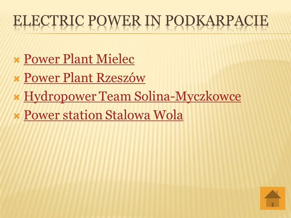 Electric Power in Podkarpacie
