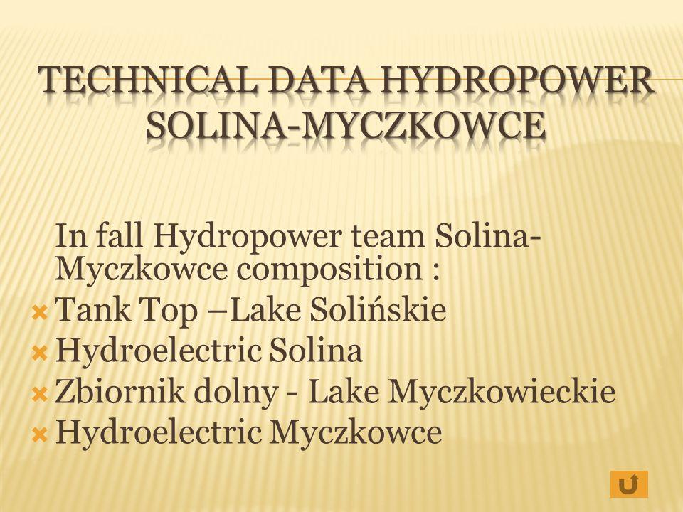 Technical Data Hydropower Solina-Myczkowce