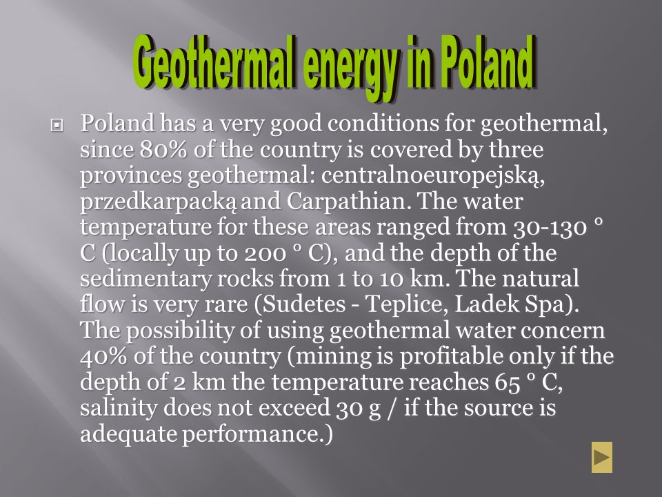 Geothermal energy in Poland