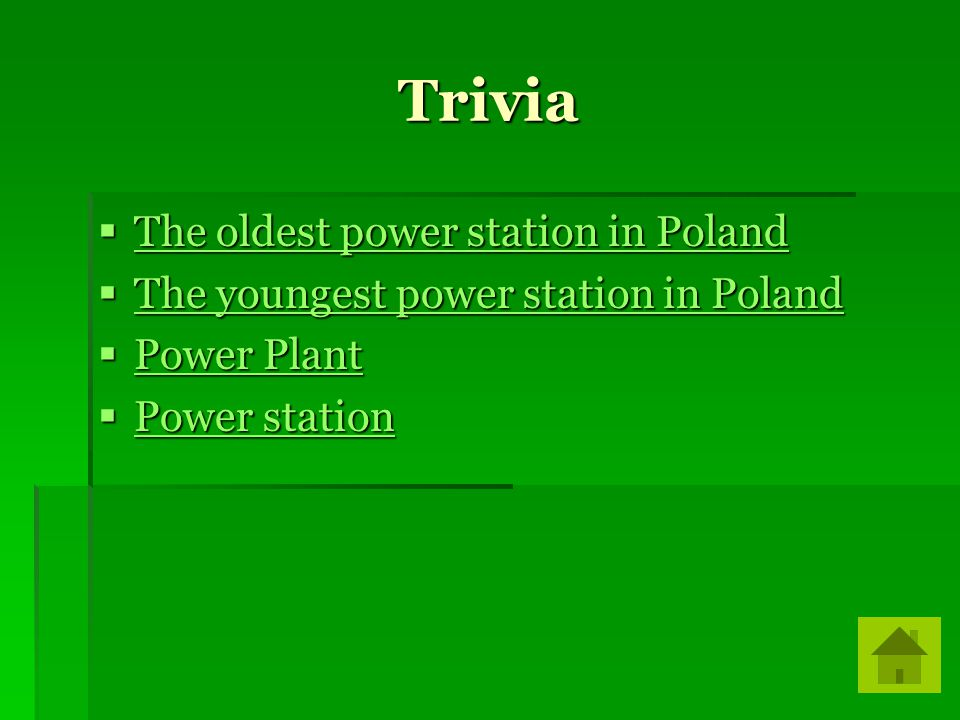 Trivia The oldest power station in Poland