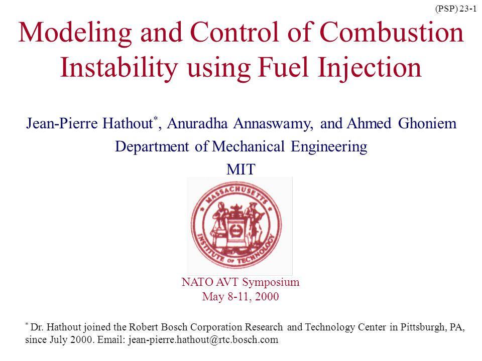 Modeling and Control of Combustion Instability using Fuel Injection