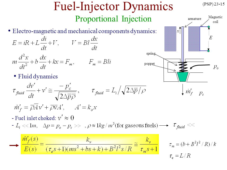 Fuel-Injector Dynamics Proportional Injection
