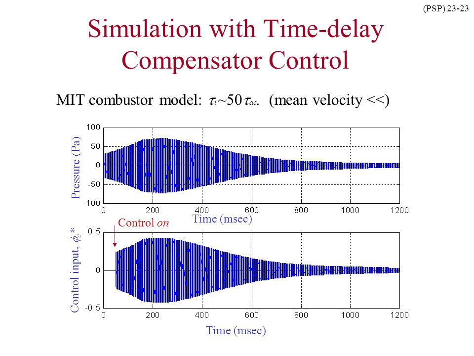 Simulation with Time-delay Compensator Control