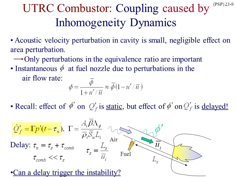 UTRC Combustor: Coupling caused by Inhomogeneity Dynamics