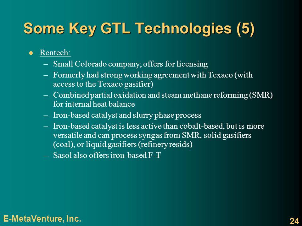 Some Key GTL Technologies (5)