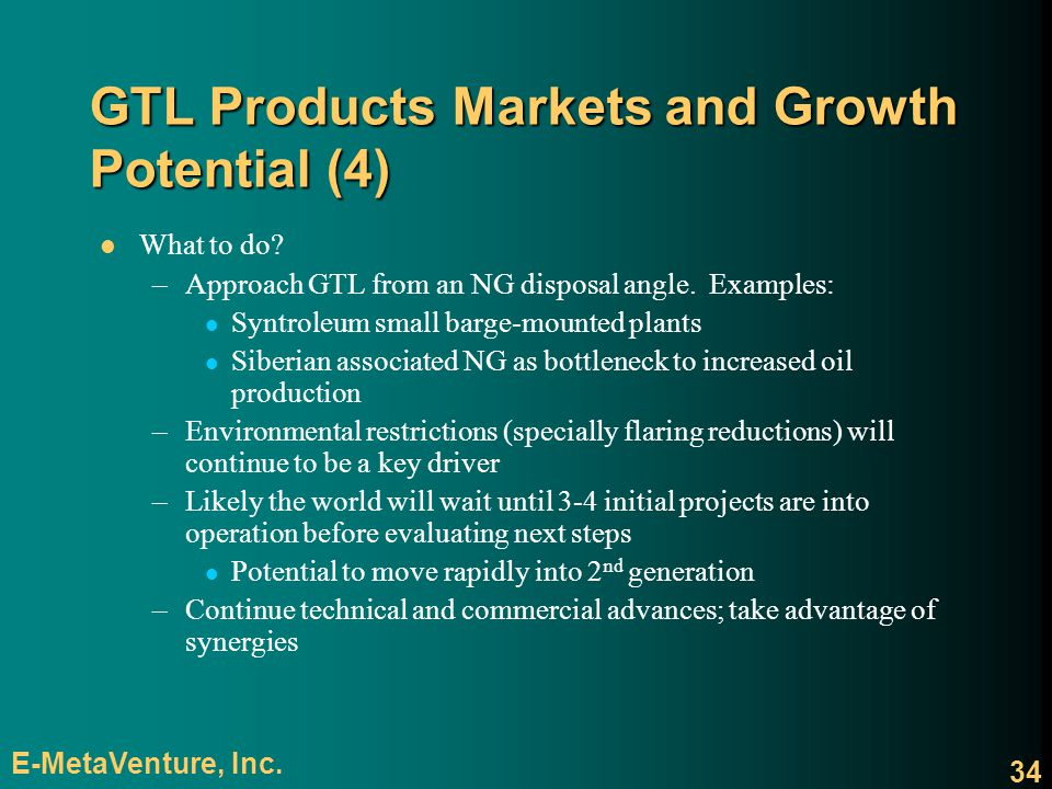 GTL Products Markets and Growth Potential (4)