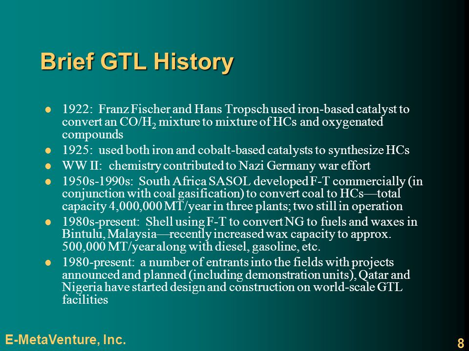 Brief GTL History