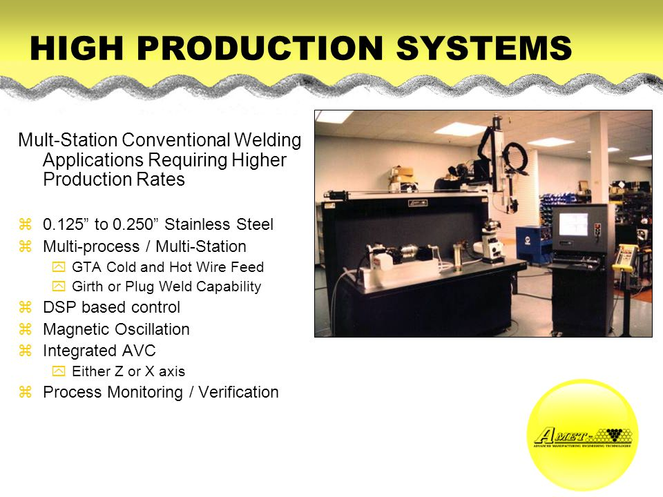 HIGH PRODUCTION SYSTEMS