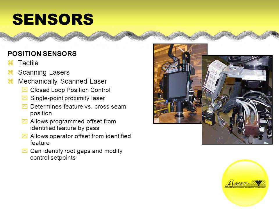 SENSORS POSITION SENSORS Tactile Scanning Lasers