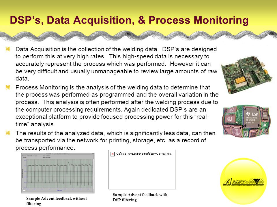 DSP's, Data Acquisition, & Process Monitoring