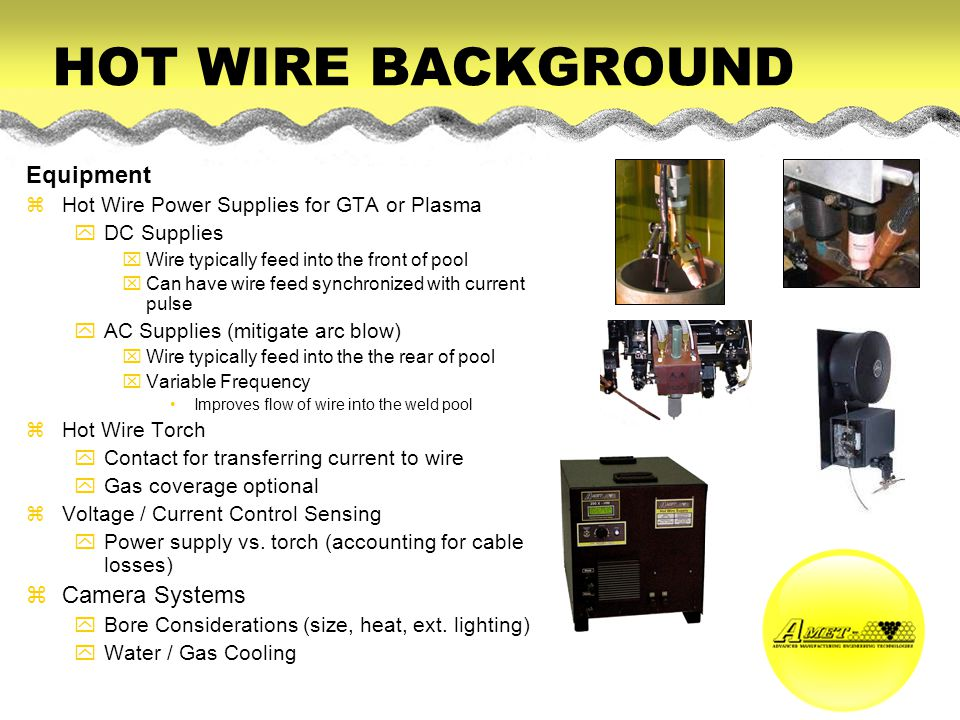 HOT WIRE BACKGROUND Equipment Camera Systems