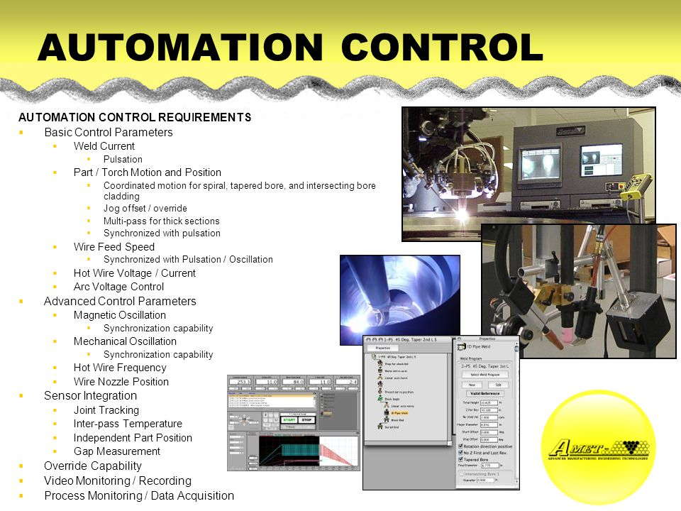 AUTOMATION CONTROL AUTOMATION CONTROL REQUIREMENTS