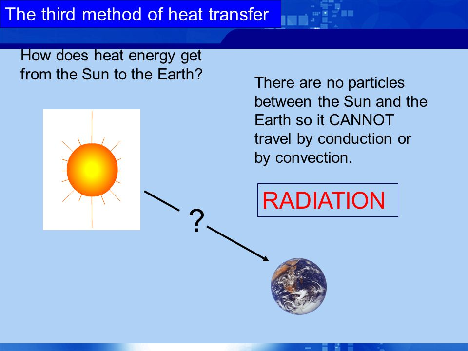 The third method of heat transfer