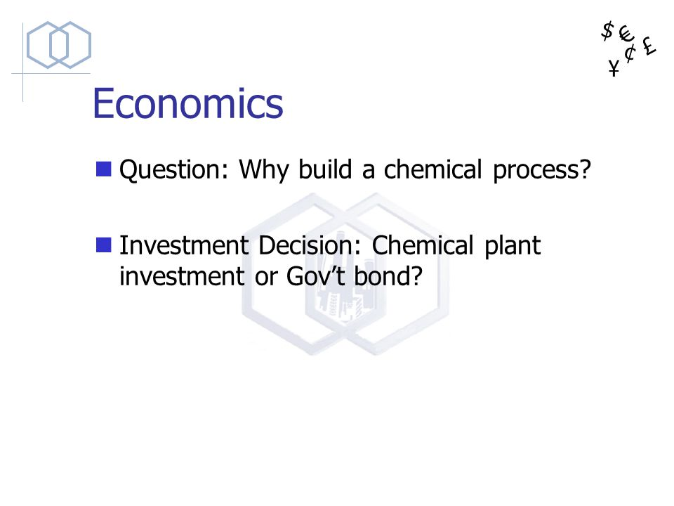Economics Question: Why build a chemical process