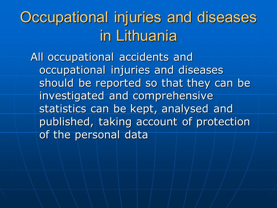 Occupational injuries and diseases in Lithuania