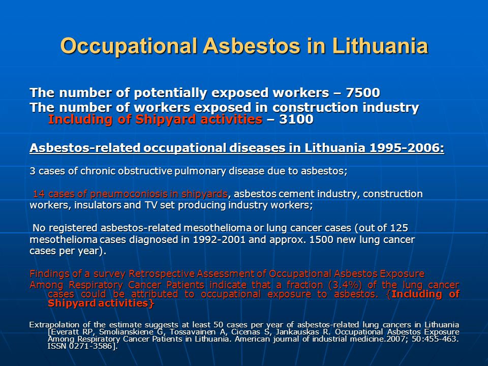 Occupational Asbestos in Lithuania