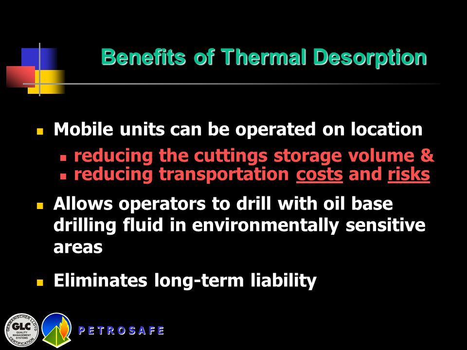 Benefits of Thermal Desorption