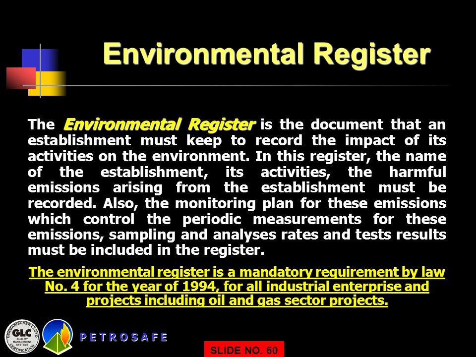 Environmental Register
