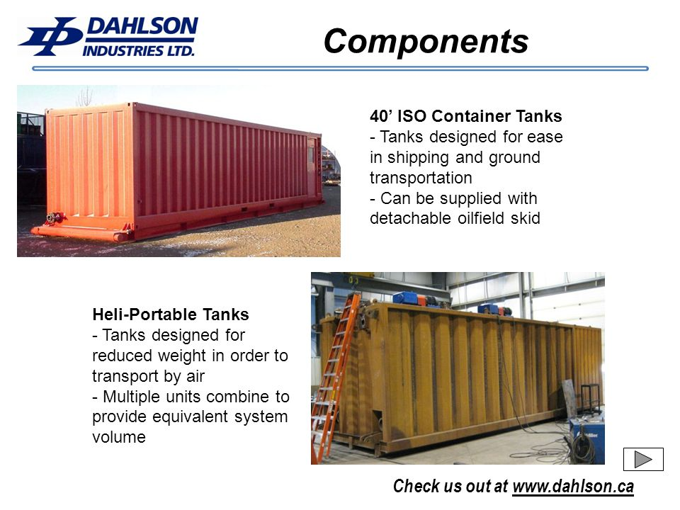 Components 40' ISO Container Tanks