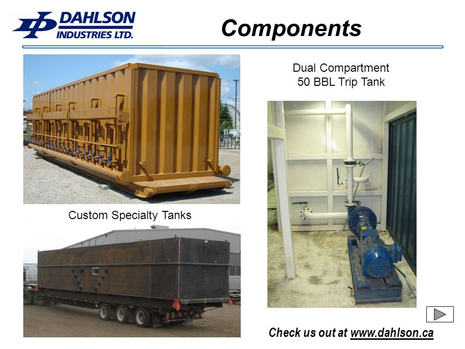 Components Dual Compartment 50 BBL Trip Tank Custom Specialty Tanks
