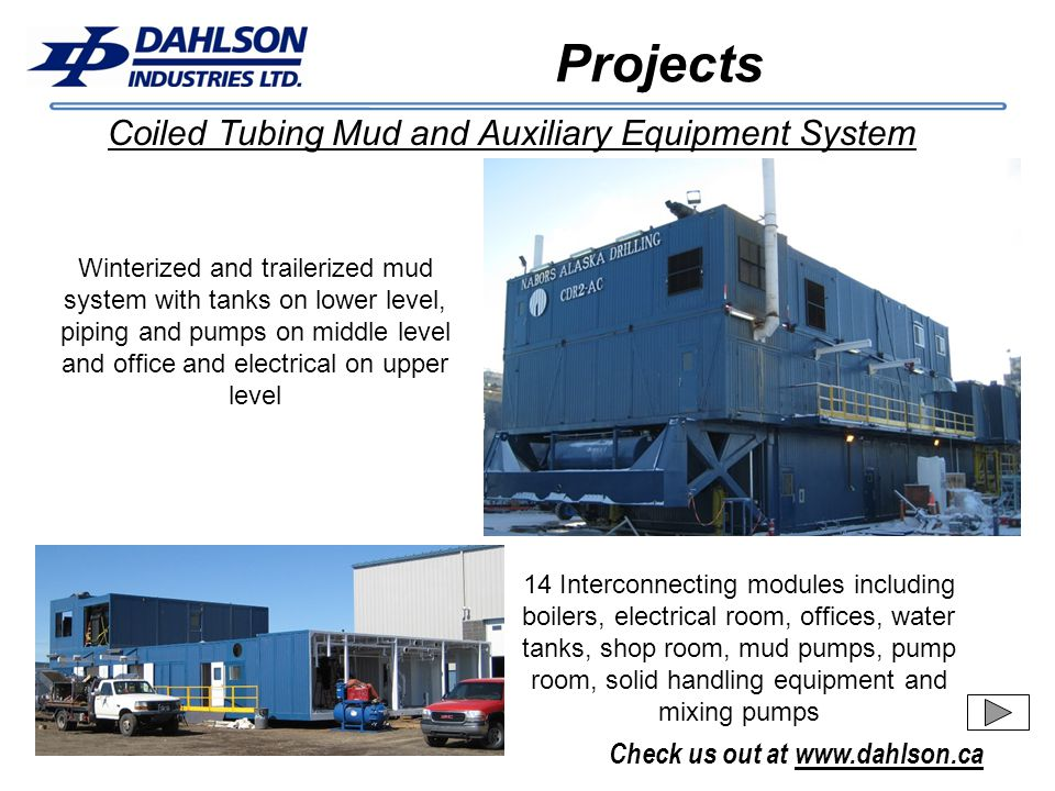 Projects Coiled Tubing Mud and Auxiliary Equipment System