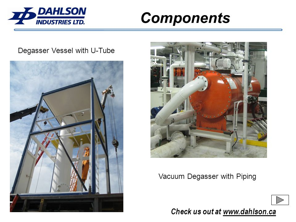 Components Degasser Vessel with U-Tube Vacuum Degasser with Piping