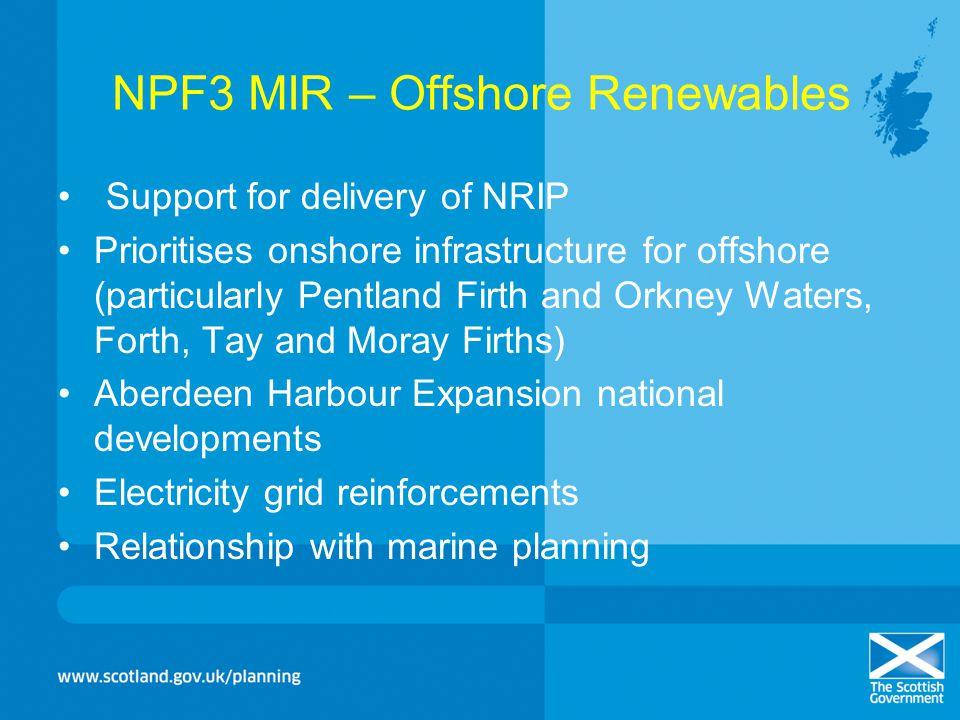 NPF3 MIR – Offshore Renewables