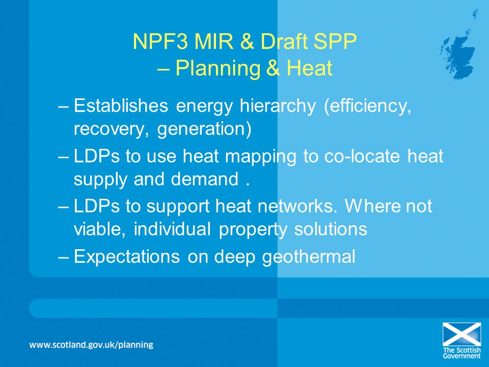 NPF3 MIR & Draft SPP – Planning & Heat