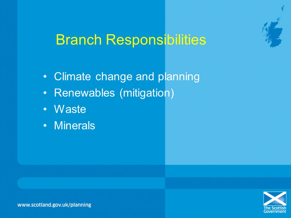 Branch Responsibilities