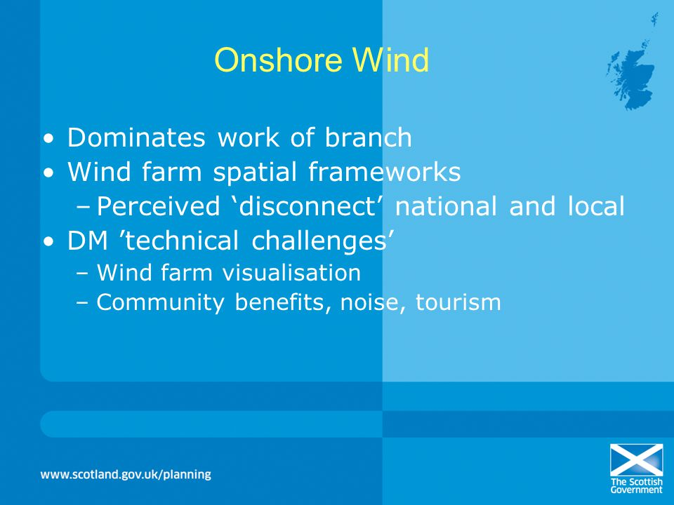 Onshore Wind Dominates work of branch Wind farm spatial frameworks