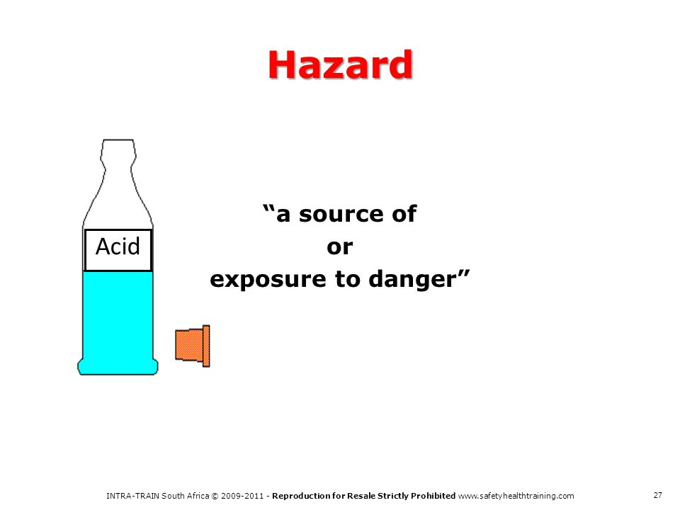 a source of or exposure to danger