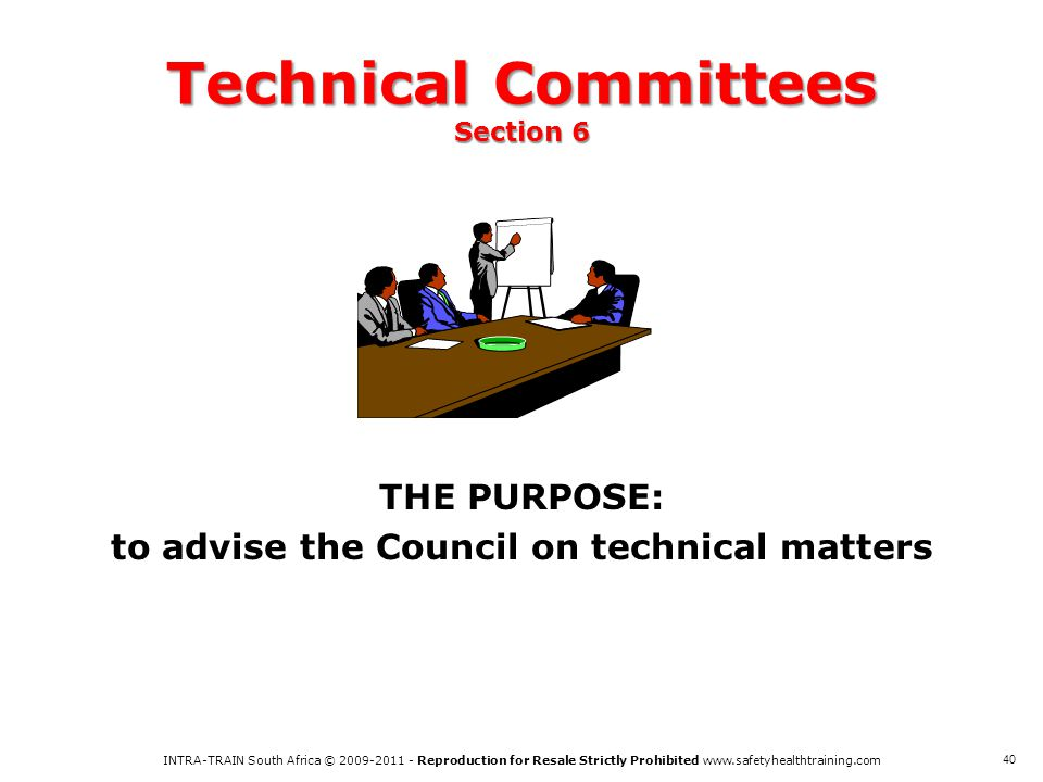 Technical Committees Section 6