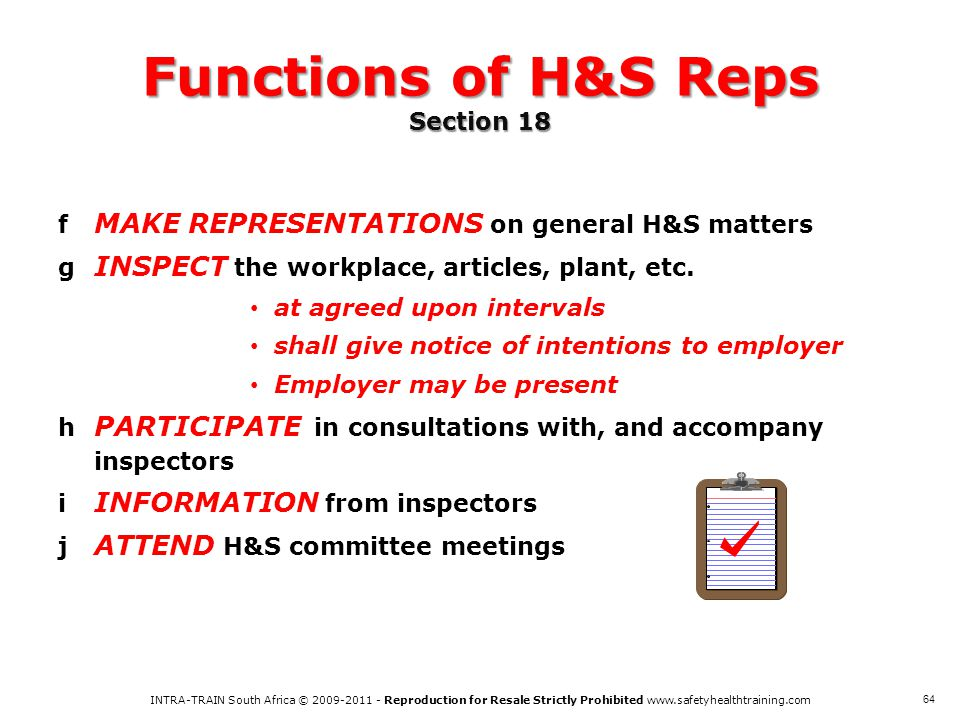 Functions of H&S Reps Section 18