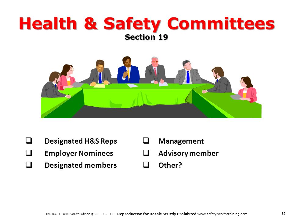 Health & Safety Committees Section 19