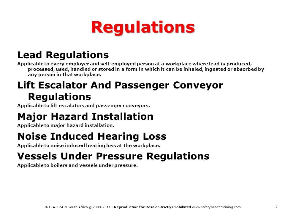 Regulations Lead Regulations