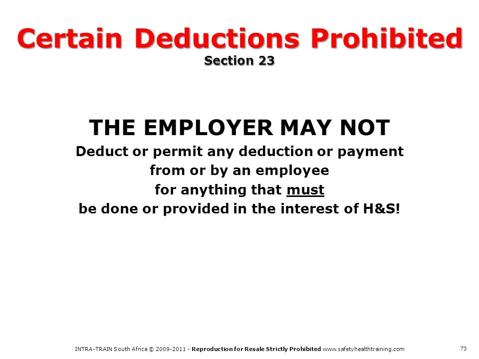 Certain Deductions Prohibited Section 23
