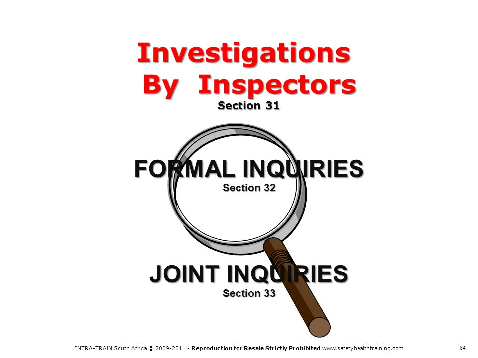 Investigations By Inspectors Section 31