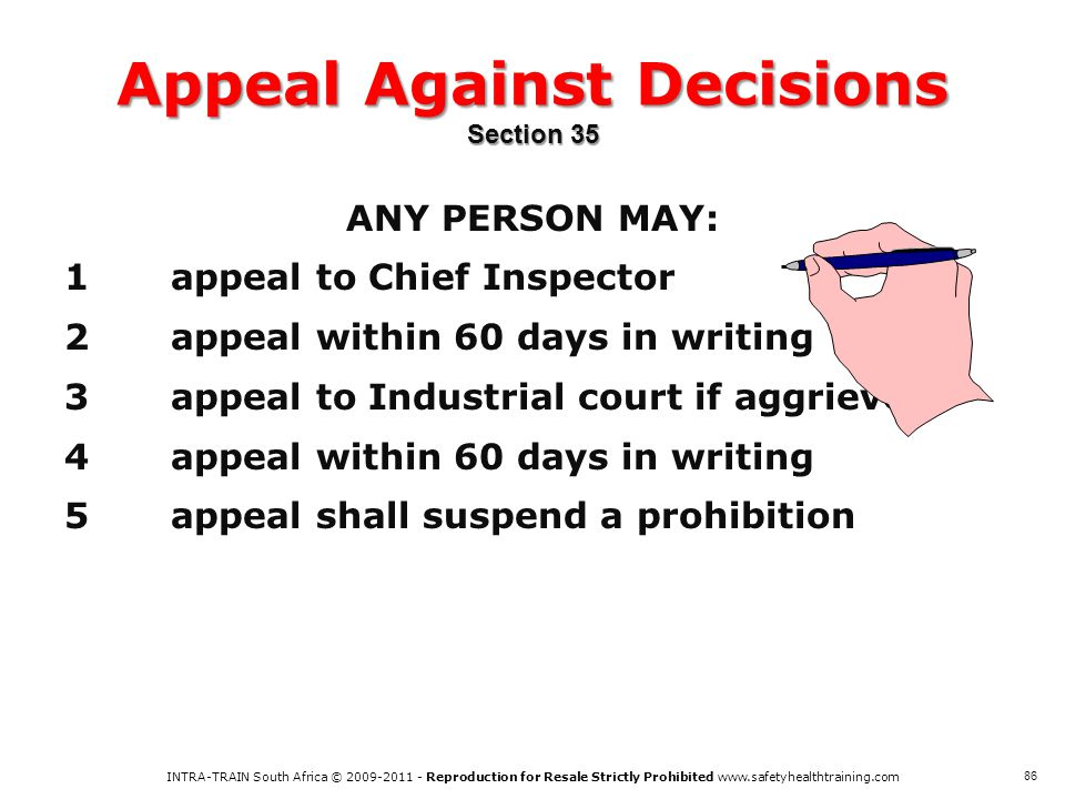 Appeal Against Decisions Section 35
