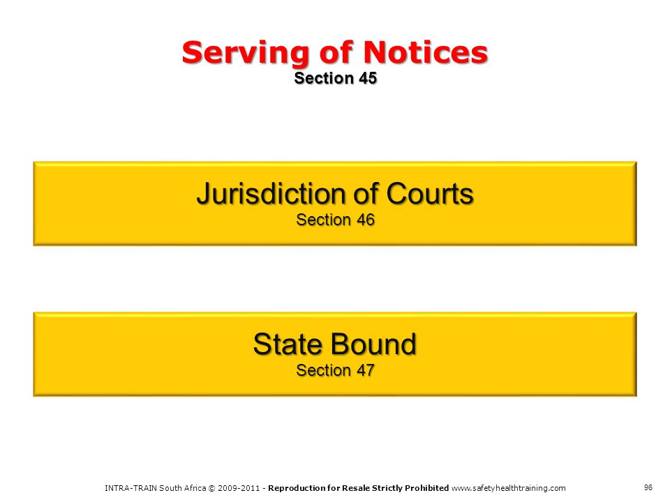 Serving of Notices Section 45