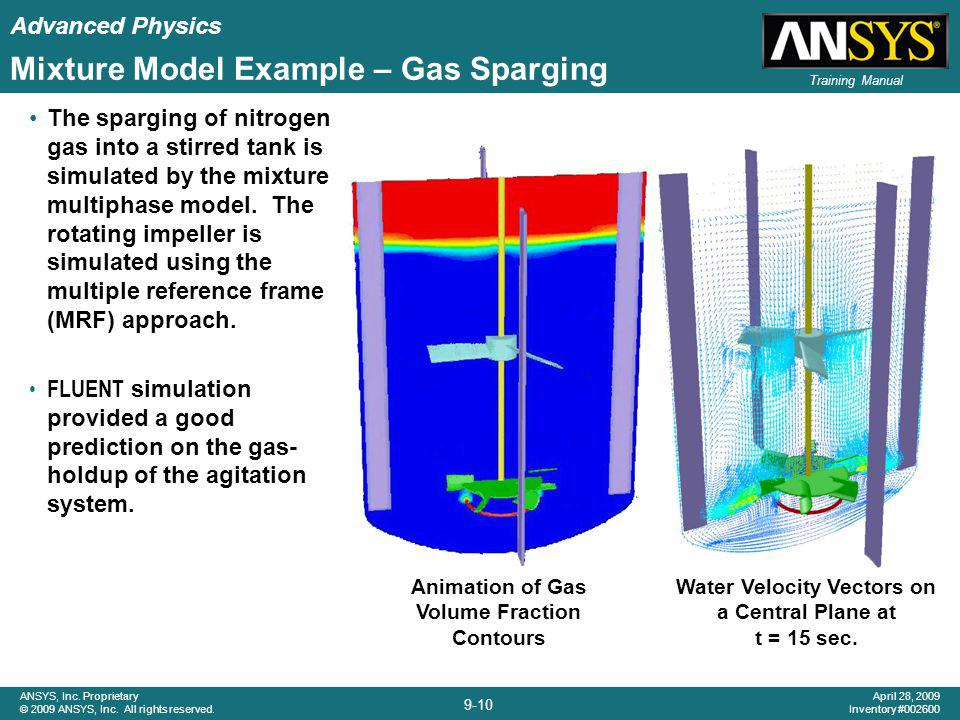 Mixture Model Example – Gas Sparging