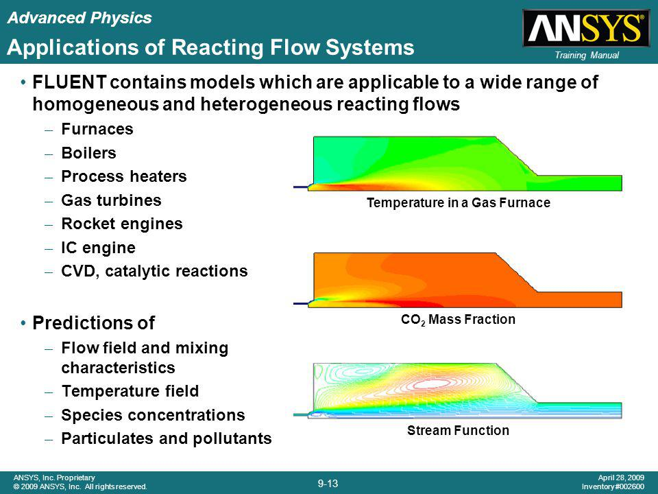 Applications of Reacting Flow Systems