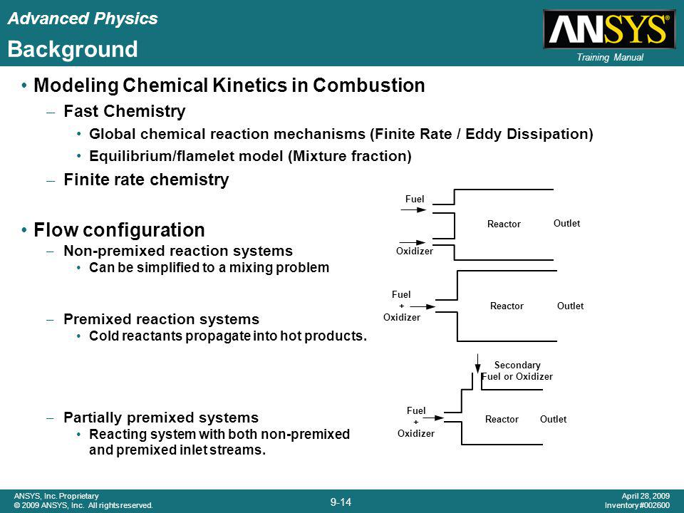 Background Modeling Chemical Kinetics in Combustion Flow configuration